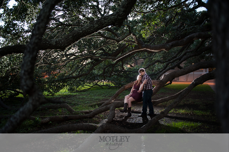 a&m engagement photo
