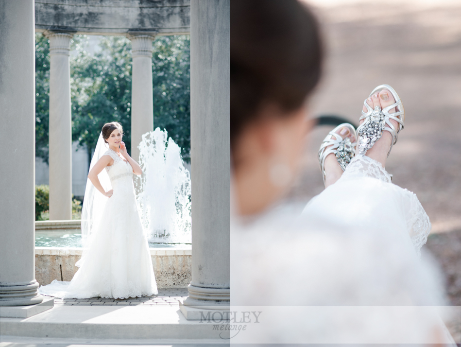 hermann park bridal photos