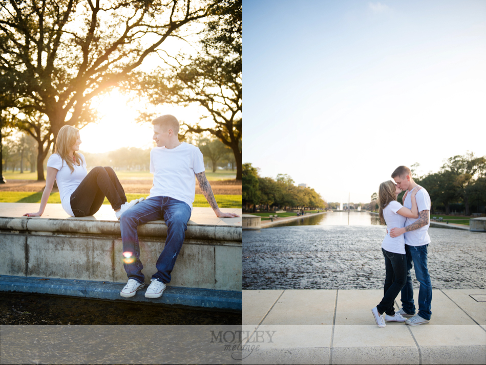 engagement photos at hermann park