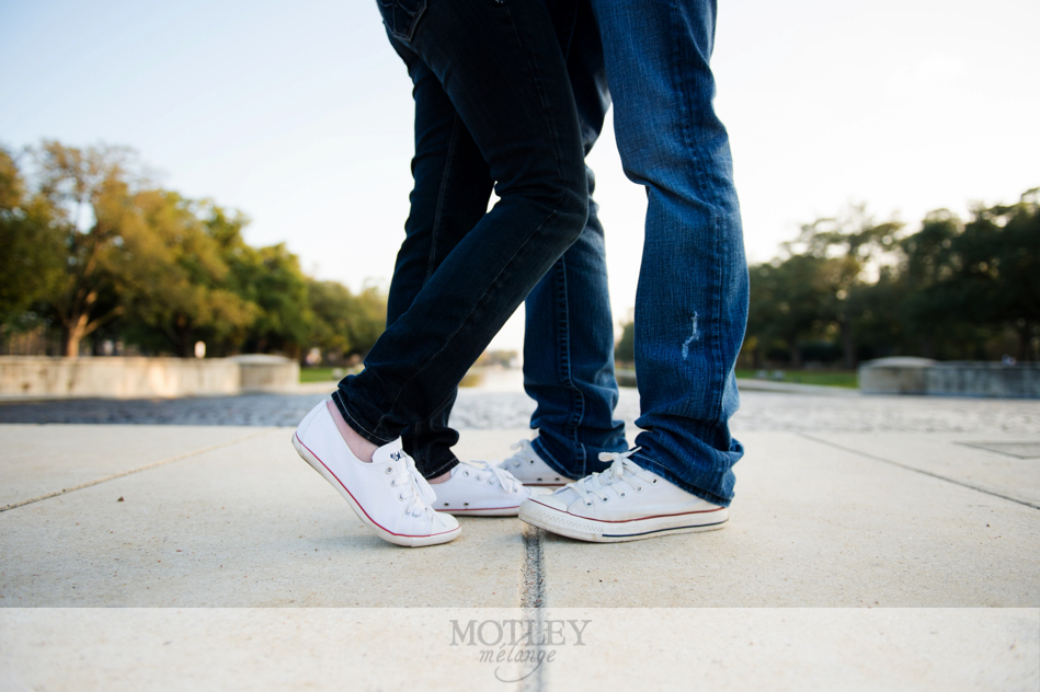engagement photos at hermann park