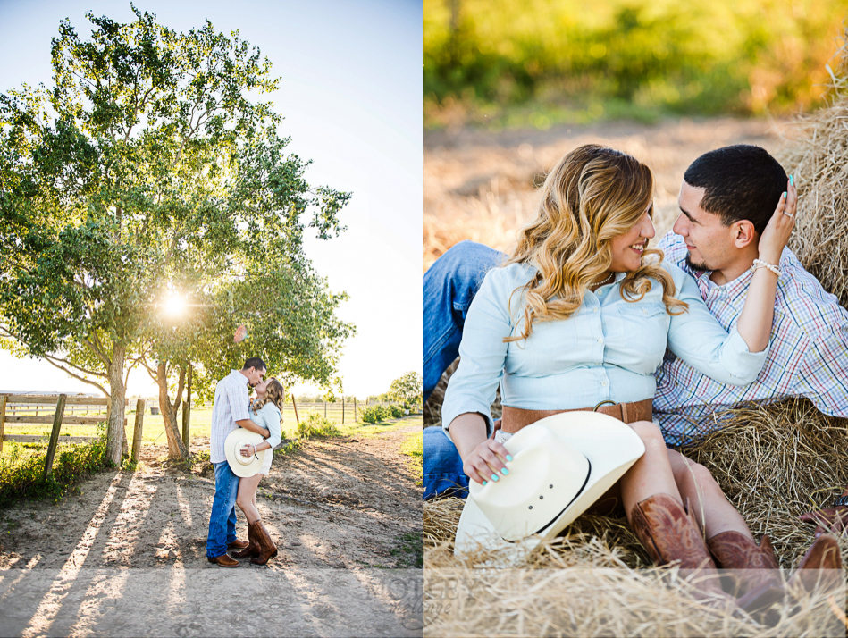 engagement session with horse
