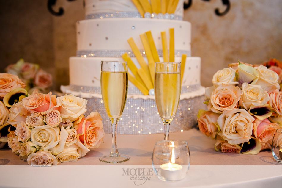 glitter and glam wedding