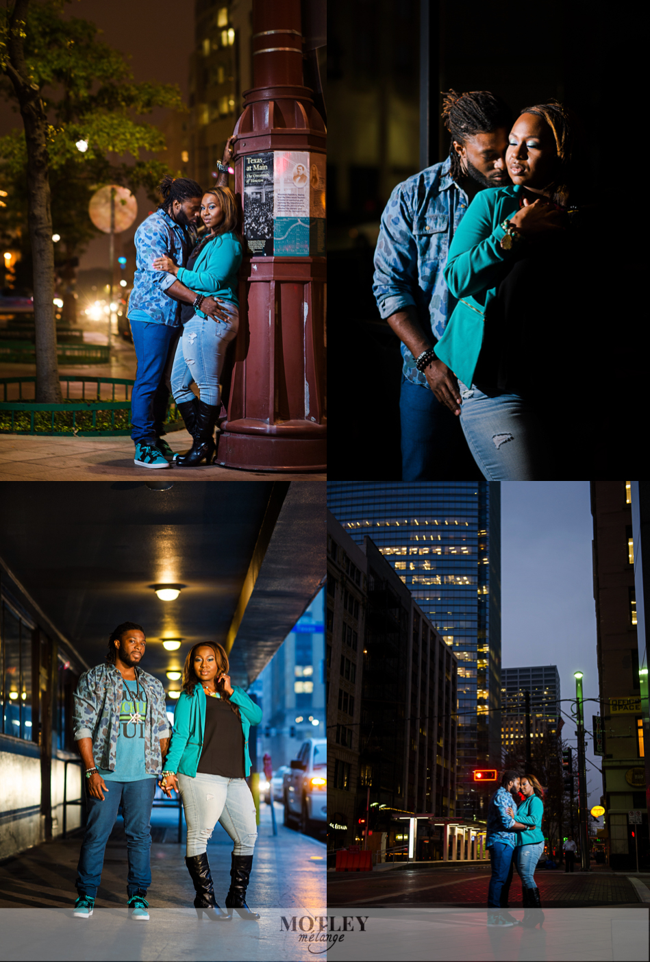 night-engagement-session-downtown-houston