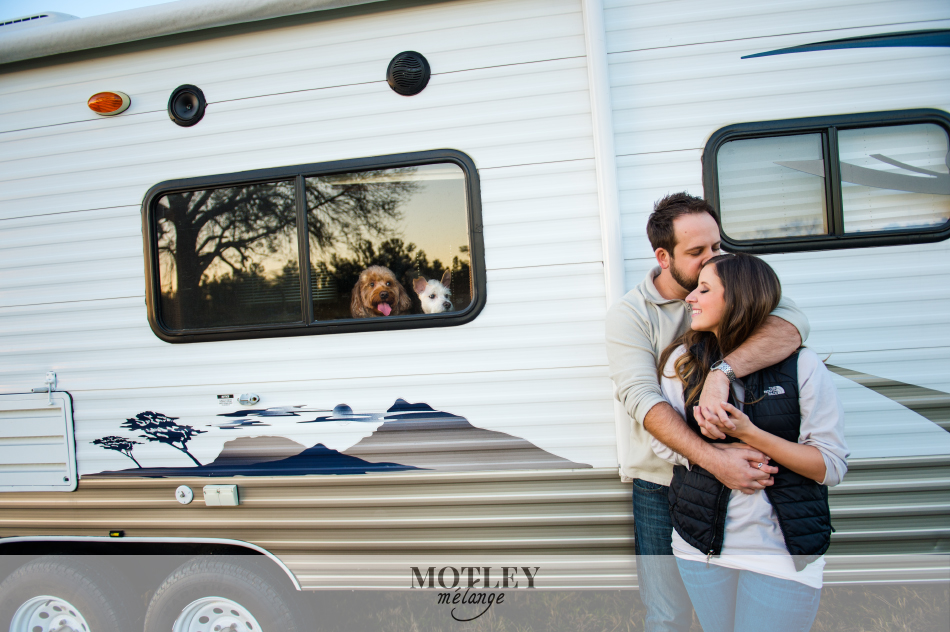 country camping engagement session houston